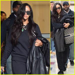 Rihanna Arrives at JFK Ahead of 'Savage x Fenty' Fashion Show During NYFW!