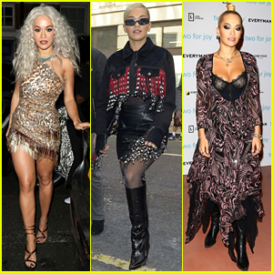 Rita Ora Ends Her Week in Three Very Different Outfits!