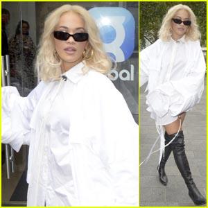 Rita Ora Makes a Fashionable Arrival at Global Radio Studios in London!