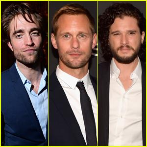 Robert Pattinson, Alexander Skarsgard, & Kit Harington Look So Suave at HFPA & InStyle Party!