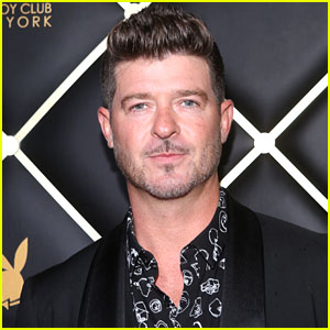 Robin Thicke Attends Playboy Club Opening Party in New York City!