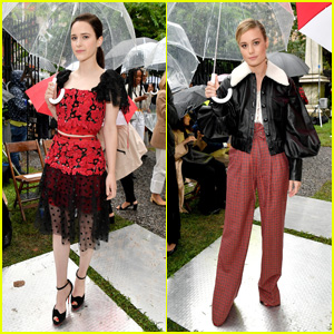 Rachel Brosnahan & Brie Larson Attend Rodarte Fashion Show During NYFW!