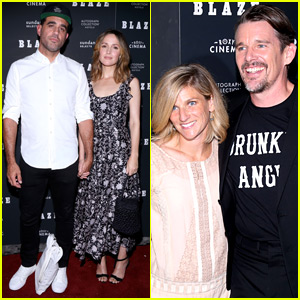 Rose Byrne & Bobby Cannavale Support Ethan Hawke at 'Blaze' Screening!
