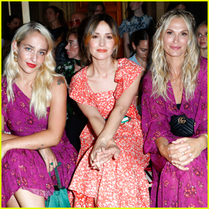 Rose Byrne Gets Glam For 'Ulla Johnson' Fashion Show During NYFW