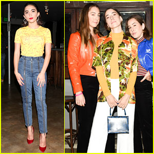 Rowan Blanchard & HAIM Support Planned Parenthood at J Brand's Fall 2018 Collection Launch
