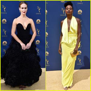 Sarah Paulson & Adina Porter Look Chic on the Red Carpet at Emmy Awards 2018!