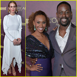 Sarah Paulson & Sterling K. Brown Celebrate Emmy Nominations with EW!