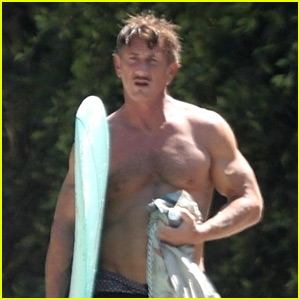 Sean Penn Puts Ripped Body on Display While Surfing