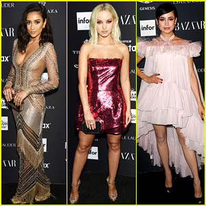 Shay Mitchell, Dove Cameron, & Sofia Carson Join More Young Stars at Harper's Bazaar Party!