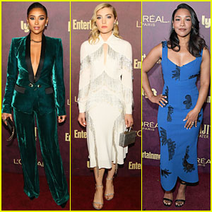 Shay Mitchell, Skyler Samuels, & Candice Patton Attend EW's Pre-Emmys Party