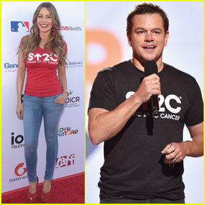 Sofia Vergara & Matt Damon Stand Up To Cancer With Tons of Other Celebrities!