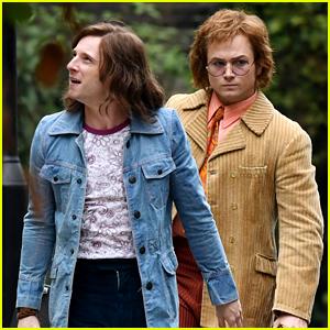 Taron Egerton Transforms Into Elton John Alongside Jamie Bell on 'Rocketman' Set!