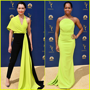 Tatiana Maslany & Regina King Match in Neon Yellow at Emmys 2018 Red Carpet!