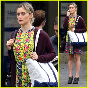 Taylor Schilling Wears a Colorful Dress on the Set of 'Orange Is The New Black' Season 7!