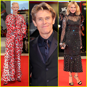 Tilda Swinton & Naomi Watts Support Willem Dafoe at 'At Eternity's Gate' Venice Premiere