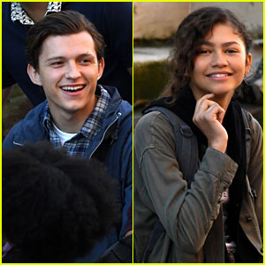 Tom Holland & Zendaya Film 'Spider-Man: Far From Home' in the Canals in Italy