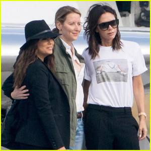 David Beckham & Victoria Beckham Catch a Flight With Eva Longoria & Jose Baston