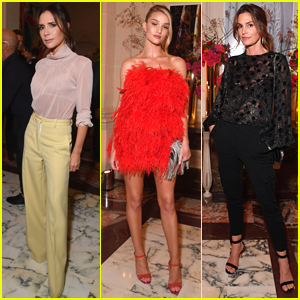 Victoria Beckham, Rosie Huntington-Whiteley, & Cindy Crawford Step Out at YouTube Cocktail Party in Paris!
