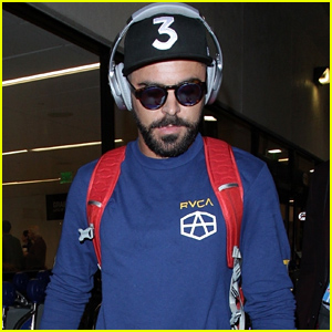 Zac Efron Rocks a Chance the Rapper Hat While Arriving in LA!