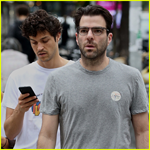 Zachary Quinto & Boyfriend Miles McMillan Take Their Dog for a Walk in NYC