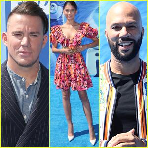 Zendaya Joins Channing Tatum & Common at 'Smallfoot' Premiere!