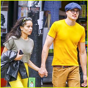 Zoe Kravitz & Boyfriend Karl Glusman Match in Yellow!