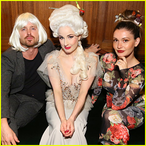 Aaron Paul Wears a Wig to Dita Von Teese's Birthday Party