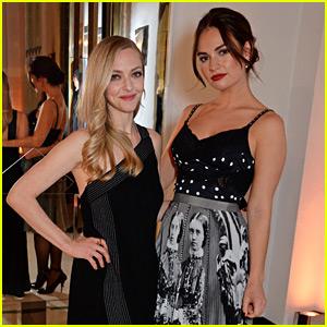 Mamma Mia's Amanda Seyfried & Lily James Reunite at Harper's Bazaar Event!