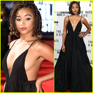 Amandla Stenberg Strikes a Powerful Pose at 'The Hate U Give' Premiere in London