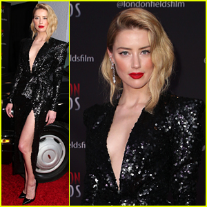 Amber Heard Sparkles on Red Carpet at 'London Fields' Premiere