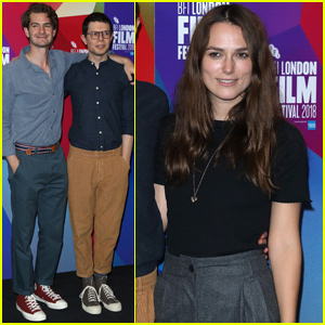 Andrew Garfield & Keira Knightley Support Simon Amstell at 'Benjamin' Premiere