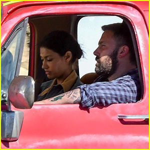 Ben Affleck & Janina Gavankar Film Car Scene for Upcoming Movie 'Torrance'!