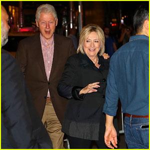 Bill & Hillary Clinton Attend Christina Aguilera Concert in New York City!