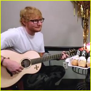Ed Sheeran Sings 'Happy Birthday' to Bruno Mars - Watch Now!