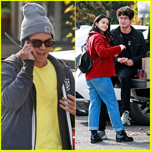 KJ Apa Chills With Camila Mendes & Charles Melton in Vancouver