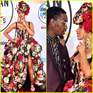 Cardi B's Husband Offset Joins Her at American Music Awards 2018!