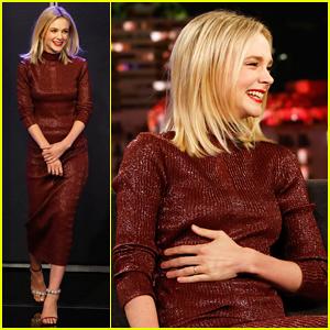 Carey Mulligan's Talks Her Husband Marcus Mumford Yawning at Royal Wedding on 'Jimmy Kimmel'!