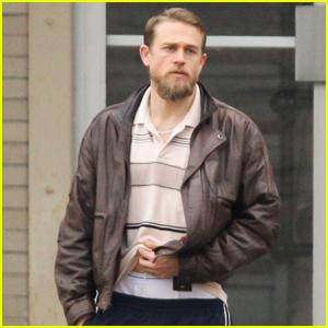 Charlie Hunnam Flashes His Underwear on 'Jungleland' Set