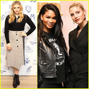 Chloe Moretz Co-Hosts Maje's 20th Anniversary Party in NYC!