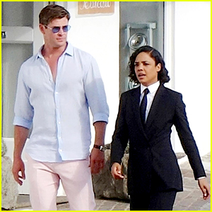 Chris Hemsworth & Tessa Thompson Film 'Men in Black' Reboot in New Set Photos From Italy!