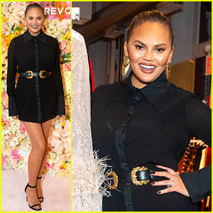 Chrissy Teigen Shows Off Her Revolve Collection at NYC Pop-Up