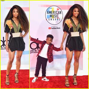 Ciara & Son Future Jr. Pose at American Music Awards 2018!