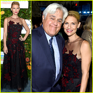 Claire Danes Joins Jay Leno to Celebrate NYC's Hudson River Park