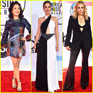 Constance Wu Joins Leighton Meester & Busy Philipps at American Music Awards 2018!