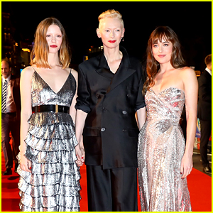 Dakota Johnson Stuns at 'Suspiria' Premiere with Mia Goth & Tilda Swinton
