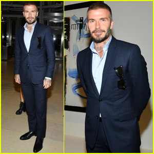 David Beckham Celebrates New Art Exhibition In Paris!