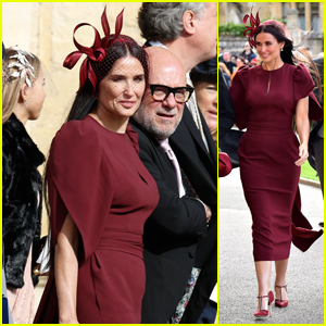 Demi Moore Dazzles at Princess Eugenie's Wedding!