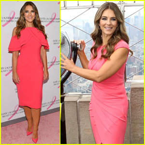 Elizabeth Hurley Dons Three Pink Looks For Breast Cancer Awareness Month!