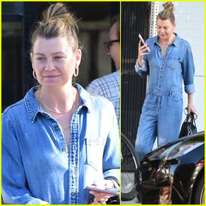 Ellen Pompeo Grabs Breakfast with Friends in L.A.