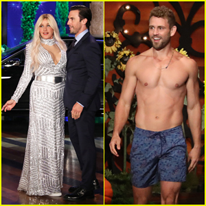 Ellen' Stages Epic 'Bachelor' Parody with Milo Ventimiglia & Shirtless Nick Viall for Halloween!